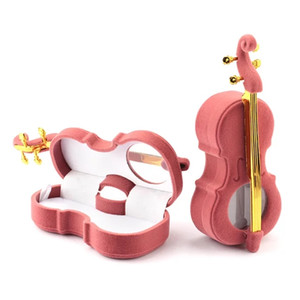 unique Cello Gift Box Holder Jewelry box case Velvet Wedding Ring Box for Earrings Necklace Display & Packaging