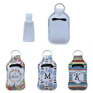 Neoprene Hand Sanitizer Bottle Holder Lipstick Holder Keychain Bags 30ML Perfume Hand Washing Fluid Bottle White for Sublimation Print