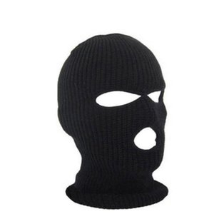 New Full Face Cover Mask Three 3 Hole Balaclava Knit Hat Army Tactical Winter Ski Cycling Mask Beanie Hat Scarf Warm Face Masks