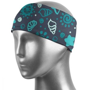 Sweatband for Men Women Elastic Sport Hairbands Head Band Yoga Sports Hair Exercise, fitness, house, yoga. shell Q009