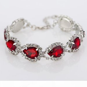 high end K Trendy Love Free Shipping Bracelets Bangles Silver Plated Chain Crystal Charm Bracelets For Best Friend Jewelr