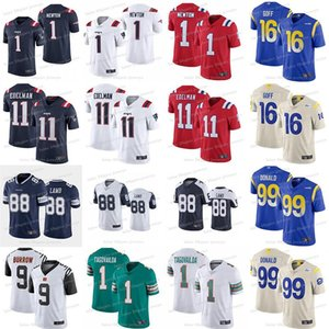 99 Aaron Donald 16 Jared Goff Jersey Tua 1 Tagovailoa Cam 1 Newton CeeDee 88 Lamb 9 Burrow jersey