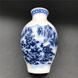 Cinese blu e cinese decor magnete in ceramica frigorifero wmtcbr magnete crafts creativo mestieri set vaso bianco frigorifero regali business regali in porcellana NLOO