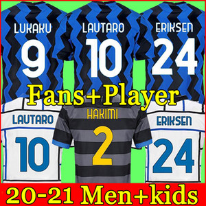 Inter milan Camiseta de fútbol de Interlança soccer jersey football shirt VIDAL BARELLA ERIKSEN LUKAKU LAUTARO 20 21 chandal de fútbol 2020 2021 uniformes kit hombres + niños