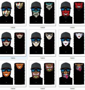 Fast Shipping Digital Thermal Transfer Face Mask Grimace Skull American Flag Biden Scarf Seamless Variety Riding Bandana Cover Q3002