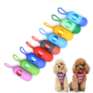 Dog cat garbage bag case Space capsule convenient clean dog poop bag outdoor park Dog Walking pet dogs supplies will and sandy drop ship