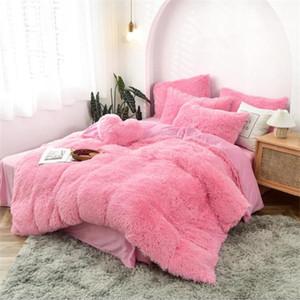 Розовый флисовая ткань зимняя толстая твердая постельное белье.