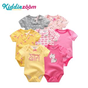 7PCS lot 2020 Baby Rompers Girl Clothes Newborn Cotton Baby Boy Clothes Jumpsuits Jumpsuit Ropa bebe Short Sleeve Newborn 0-12M Z1121