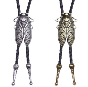 Men Leather Cow Skull Necklace Jewelry Fashion New Retro Men's Leather Bolo Tie Bow Tie Mens Gifts Necktie Men Accessories