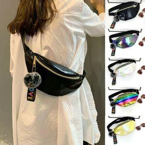Fashion Glitter Sequins Waist Bag Fanny Pack Pouch Hip Purse Satchel Belt Bag Travel Hip Bum Small Purse Chest Pouch Punk