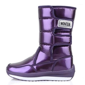 akexiya 2020 New Fashion Winter Women Snow Boots Thicken Warm Women Cotton Shoes Mid-tube Comfortable Women's Boots1