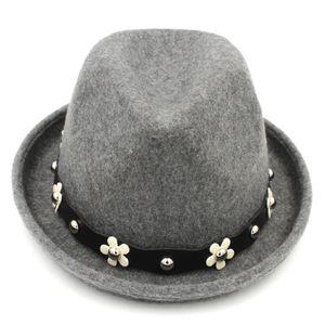 Fashion Women Winter Upturn Brim Fedora Tribly Hat Lady Party Derby Jazz Cap