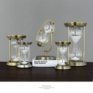 HQ Retro Modern Type Metal Swivel Fixed Sand Glass Sand Timer Clock Hourglass Arts And Crafts Study Bedroom Office Desk Decor