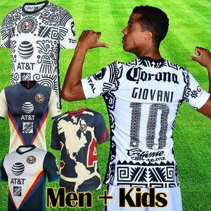 2021 Liga MX Club America terza maglia da calcio portiere 20 21 GIOVANI CASTILLO OCHOA America terza maglia da calcio kit Camiseta de goalie Futbol set da uomo per bambini