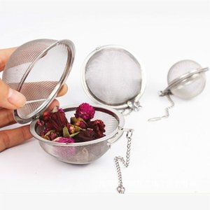 Creative Stainless Steel Sphere Mesh Tea Brewing Device Ball Strainer Infuser Filter Diffuser Strainers Kitchen Tool DHB1971