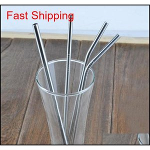 Stainless Steel Straws 30 20 Ounce Cleaning Brush Reusable Drinking Straw Straight And Bend Drinking Tool Straw Three Size 6Mm Thick Qdi6F