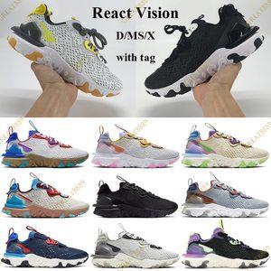 2021 Réagir Vision D / MS / X Chaussures de course Honeycombe Blanc Blanc Entraîneurs Antracites Blanc Gravity Volt Volt Platinum Sadars de safran Tag US 5.5-11