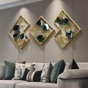 Luz europea de lujo de lujo fondo de pared decoración colgante porche corredor metal sala de estar decoración estética estética