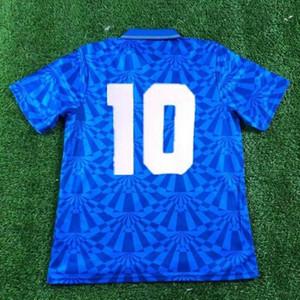 Наполи Ретро 91 93 Футбол Джетки 87 87 88 88 COPPA Italia SSC Napoli Maradona 10 Футбольная рубашка Якуда Лучший Спортивный Дешевый Местный Интернет-магазин Мужчины
