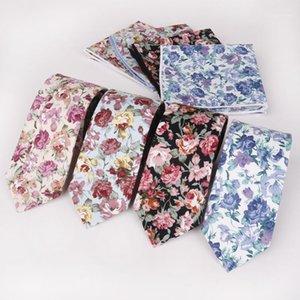 New 6cm Cotton Stampato Cravatta Business Casual Fashion Cravatta floreale Getti regalo festa di nozze Casual Gravatas Tie1