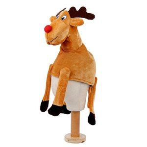 Christmas Hats Party Dress Up Props Polyester Xmas Festival Custume Decor Cute Deer Hat For Kids Adults