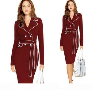 Dresses for womens Europe and the United States elegant ladies dress suit pencil long dress Plush size S--XXXL bodycon dress for women