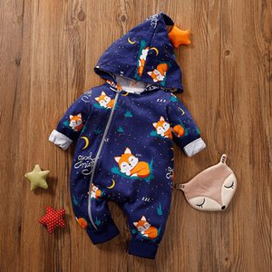 Melario Boys Girls Rompers Baby Clothing One Piece Autumn Winter Hooded Jumpsuit Infant Clothing Boys Rompers Christmas Clothes Z1121