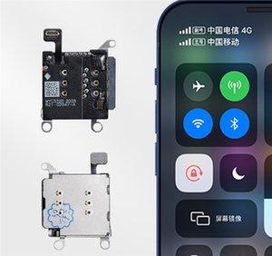 مزيج نماذج 2 في 1 لفون XR المزدوج بطاقة SIM قارئ مع كابل فليكس + سيم صينية حامل فتحة فتحة محول
