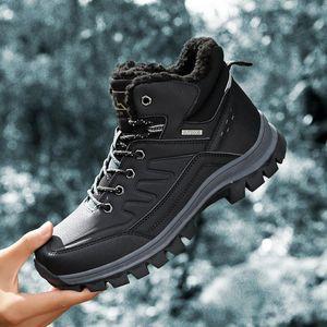 Waterproof Snow Boots Non-Slip Hiking Men'S Shoes Women'S Shoes New Popular Outdoor Wear-Resistant Winter Shoes Men