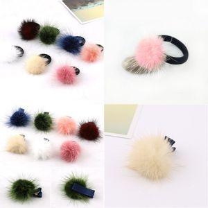 Plush Christmas Hair Barrettes Mink Hairball Kids Girls Hairpin Fashion Hairs Ring Accessories For Women Cute Multi Color 0 9rq G2