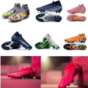 2020 Mens Mercurial Superfly VII 7 Elite 360 ​​fg CR7 Ronaldo Future Lab Dream Speed ​​001 002 Scarpe da calcio Scarpe da calcio Tacchetti