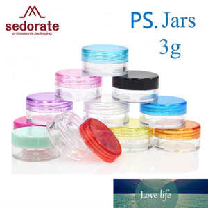 Sedorate 30 Pcs Lot 3g Plastic Eyeshadow Jars Screw Eye Cream Mini Jars Container for Cosmetic Makeup Refillable JX004