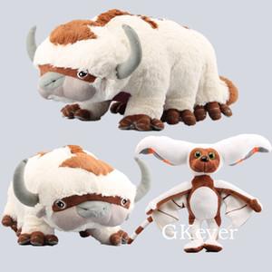 Deluxe Avatar Last Appa & Winged Lemur Momo Plush Toy Soft Stuffed Animals Cattle Doll Children Toys 30-45 CM Y1117