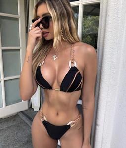 Sexy 2020 Bikini Bra Cup Swimsuit Female Swimwear Women Two pieces Bikini set Bather Bathing Suit Swim Wear