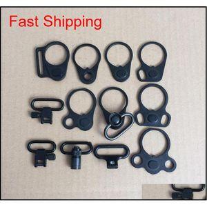 AR-15 Dual Loop Sling Mount Adapter Adapter Plating Sling Plating Mount per il tubo buffer di riserva QD Sling Swivel DXJ5O