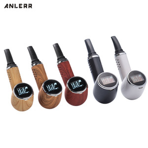 100% Original Anlerr PipeVape Dry Herb Vaporizer Pen Kit OLED Screen Ceramic Heating TC Tobacco Baking Airflow Bake Vape PipE DHL