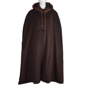 Унисекс зимний теплый буддийский Abbot монахи шерстяные мыс медитации плащ халат Zen платья форма боевые искусства костюмы коричневый1