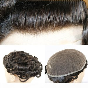 Full Swiss Lace Toupee for Men 100% Remy Human Hair Swiss Lace Base Hair Replacement Men's Lace Toupee Top Hairpiece