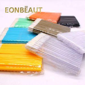 200 Pcs Colorful Disposable Eyelash Extension Tools Lip Brushes Cotton Swab Lash Clean Brush Individual Gloss Wand Cosmetic Tool