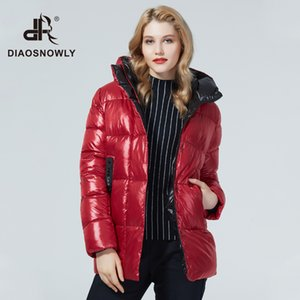 Diaosnowly куртка 2020 Куртки и пальто среднего Lenth Толстых женщина зимы пальто Теплой Марка Женщина мода Outwear Parka для