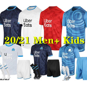 Man kids kit 20 21 Olympique OM Marseille soccer jerseys 2020 Marseille maillot de foot THAUVIN Camisetas PAYET BENEDETTO football shirt