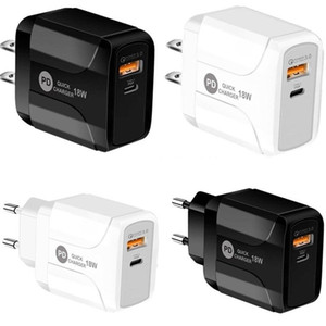 18W Quick Charge QC 3.0 PD Type c USB Wall Charger Eu US UK Plug For Iphone 7 8 X 11 Samsung Lg Android phone