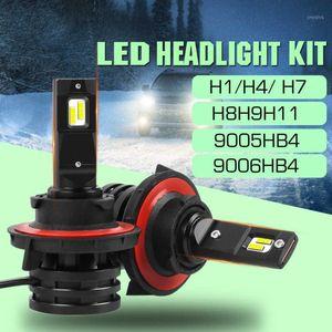 NEW 1 pair M2 Car LED Headlight Bulbs 4800 Lumens H1 H4 H7 H8H9H11 90054 90064 9V-32V Auto Mini Headlamp1