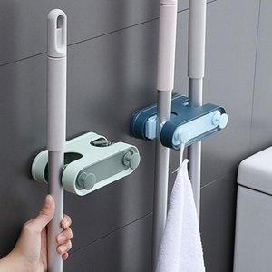 Accesorios de cocina Gadget Mopas de pared Mop Broom Organizador Hold Herramientas Self Stick Bathroom Garden Storage Rack Paraguas Up Ganchos