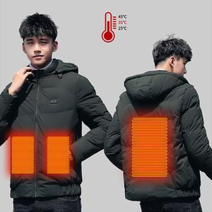 Paratago 2020 новый умный нагрев хлопчатобумажная куртка родитель-ребенок наряд одежды мужчины женщин USB нагретые тепловые графеновые пальто P9145 Q1201