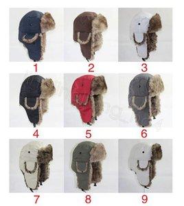 Kapana kısılmış şapka Su Geçirmez Sıcak Kış Earflap Açık Asker Kapaklar Rüzgar Geçirmez Kulaklıklar Leifeng Bisiklet Şapkalar Earmuffs Şapka Cyf4575