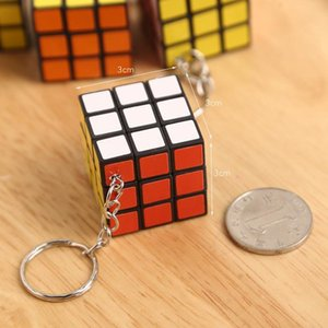 3cm Mini Puzzle Cube Key Chain Fun Magic Cubes toy Kid Intelligence Toys Kids birthday Gifts Puzzle Game Toys