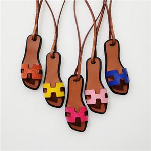 Luxury Mini Slipper Bag Charm Leather Shoe Keychain Fashion Brand Sandal Handbag Ornament Women Accessories Car Pendant Gift