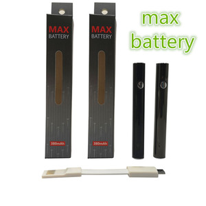 Amigo Max Battery Vape Pen Preheating Batteries 380mah Adjustable Voltage 510 Thread Batteries for 510 Vape Cartridges with USB Cable