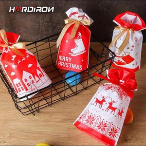 HARDIRON 0.12mm Ribbon Drawstring Biscuit Bag Christmas New Year Lucky Bag Baking Nougat Gift Sack